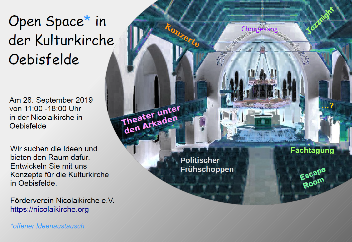 Open Space am 28.9.2019 in der Nicolaikirche